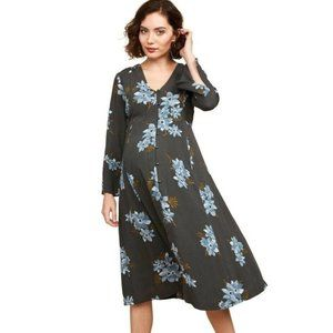 Mimi Maternity Floral Button Down Dress